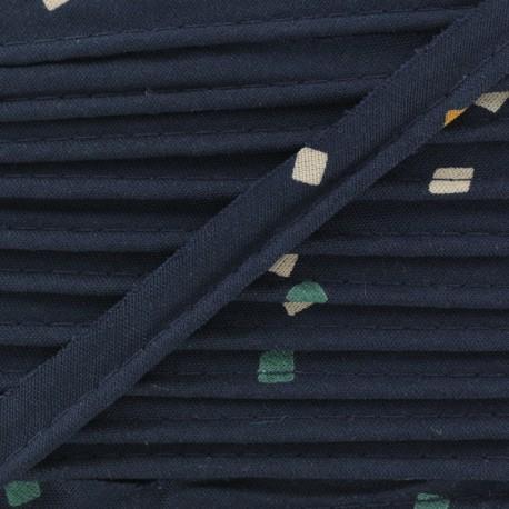 Viscose Piping Cord - Shine Night Atelier brunette x 1m