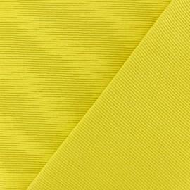 Tissu jersey 500 raies - jaune x 10cm