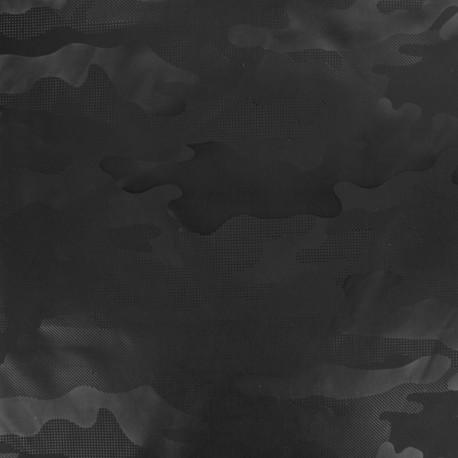 Polyester fabric - Grey Army x 10cm