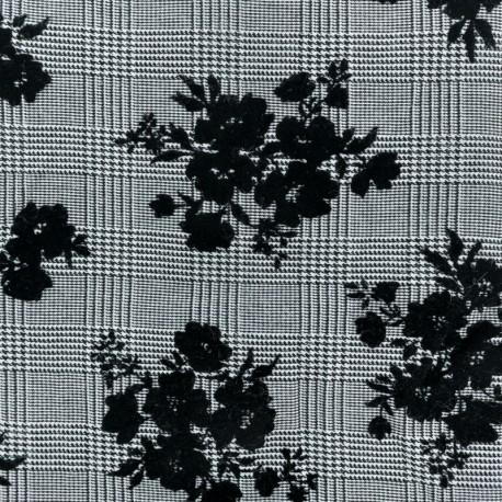 Viscose Gabardine fabric - Black Tabatha x 10cm