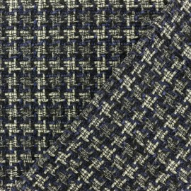 Tissu Tweed Lurex Margaret - Bleu x 10cm