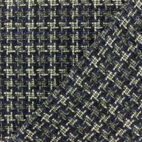 Lurex Tweed fabric - Blue Margaret x 10cm