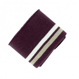 Organic Cotton Ribbing Cuffs (110x7cm) - Burgundy