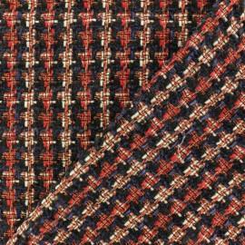 ♥ Coupon 50 cm X 150 cm ♥ Tissu Tweed Lurex Margaret - Rouge