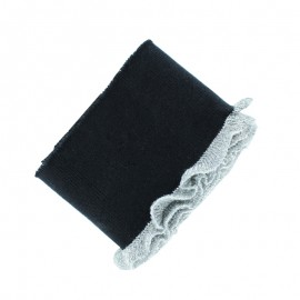 Organic Cotton Flounce Ribbing Cuffs (110x7cm) - Black Frill