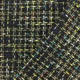 Tissu Tweed Lurex Lexie - bleu x 10cm