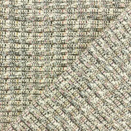 Lurex Tweed fabric - Raw Mayfair x 10cm
