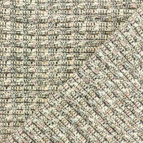 Lurex Tweed fabric - Raw Mayfair x 10cm
