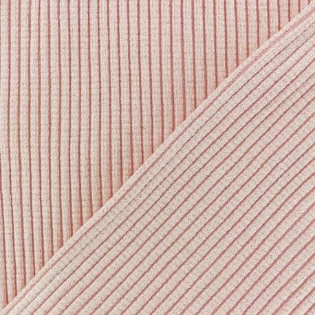 Lurex knitted Jersey 3/3 Tubular edging Fabric - black x 10 cm