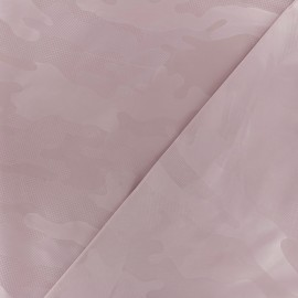 Polyester fabric - light pink Army x 10cm