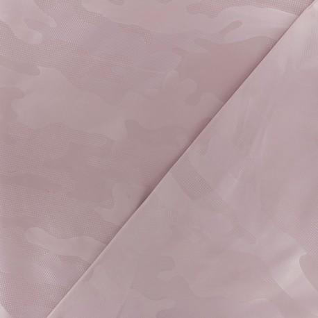 Tissu toile parachute Army - rose clair x 10cm