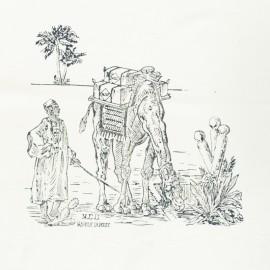 Panneau Coton Imprimé Artisanal - Sahara Gris
