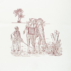 Panneau Coton Imprimé Artisanal - Sahara Terre