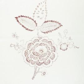 Panneau Coton Imprimé Artisanal - Fleur Terre