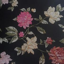 Tissu Jacquard Constance - noir  x 10cm