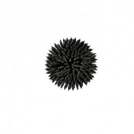 Ornement Floral à Coudre - Noir