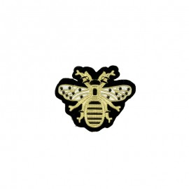 Ostentatious Bee Iron-On Patch - Gold
