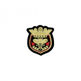Royal Bee Blazon Iron-On Patch - Gold