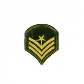 Military Rank Iron-On Patch - Khaki