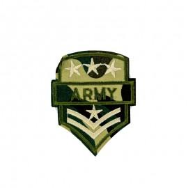 Army Military Rank Iron-On Patch - Khaki