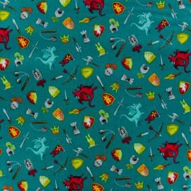 Tissu coton Makower UK Dragonheart Scatter - vert foncé x 10cm