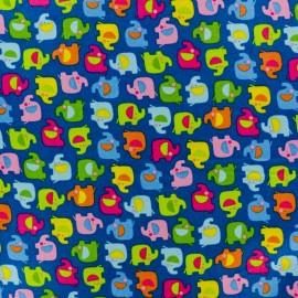Makower UK cotton fabric Ellie Mini Elephant - blue x 10cm
