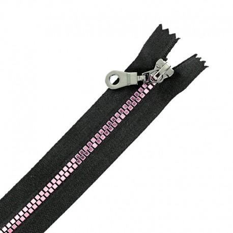 Fermeture Eclair® Séparable Moulée Disco - Noir/Rose