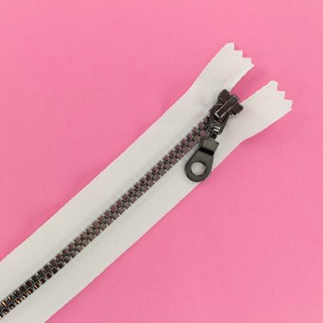 Fermeture Eclair® Non Séparable Moulée Disco - Blanc/Gris