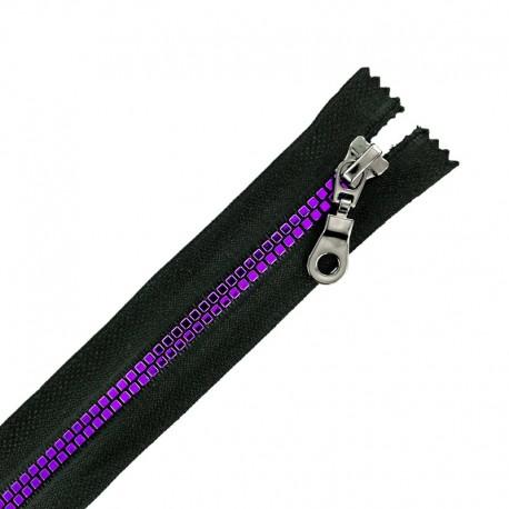 Fermeture Eclair® Non Séparable Moulée Disco - Noir/Violet