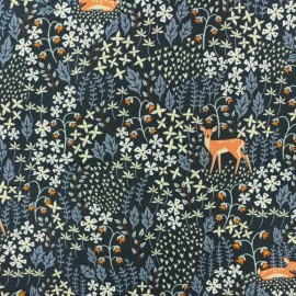 Dear Stella Poplin fabric - Midnight blue  I deer you x 10cm