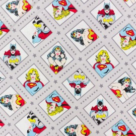 Tissu coton Super woman - gris x 10cm