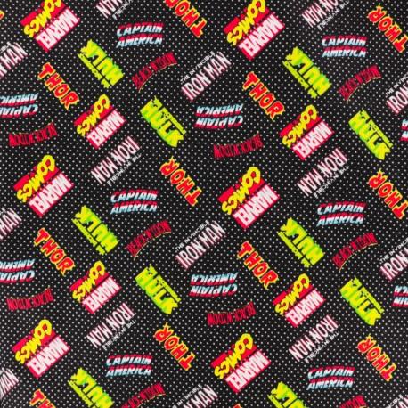 Camelot Cotton fabric - Super hero logo x 10cm