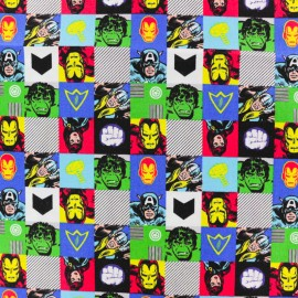 Tissu coton Avengers - blanc x 10cm