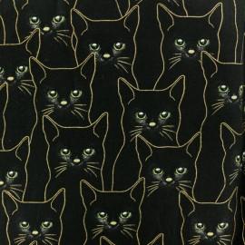 Tissu Hoffman Fabrics Batiks Etoiles - noir/doré x 10cm