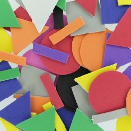 Formes en Mousse Eva (200 pièces) - Forme Géométrique Multicolore