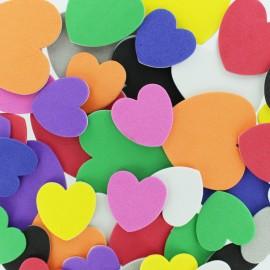Formes en Mousse Eva (200 pièces) - Coeur Multicolore