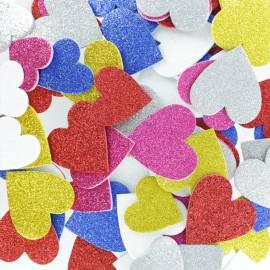 Formes en Mousse Eva (200 pièces) - Coeur Paillette