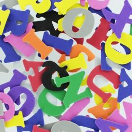 Formes en Mousse Eva 30 mm (130 pièces) - Lettre Multicolore