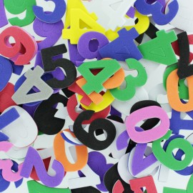 Formes en Mousse Eva 30 mm (130 pièces) - Chiffre Multicolore