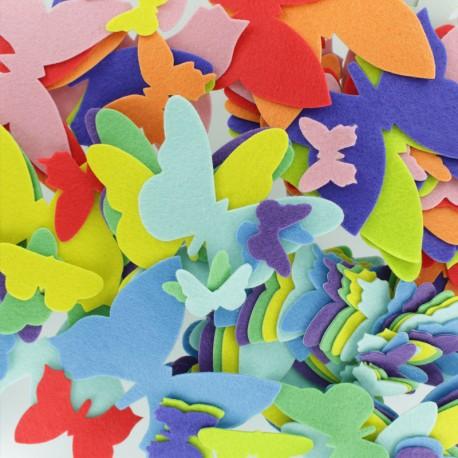 Felt Shapes (150 pcs) - Butterfly