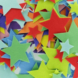 Felt Shapes (150 pcs) - Star