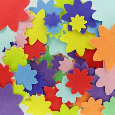 Formes en Feutrine (150 pièces) - Fleur