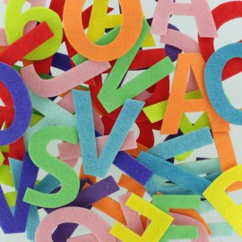 Felt Shapes 45 mm (150 pcs) - Number & Letter