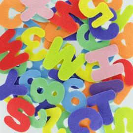 Formes en Feutrine 40 mm (150 pièces) - Chiffre & Lettre