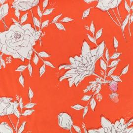 ♥ Coupon 270 cm X 140 cm ♥ AGF fabric Sonata - red Pastoral Crescendo