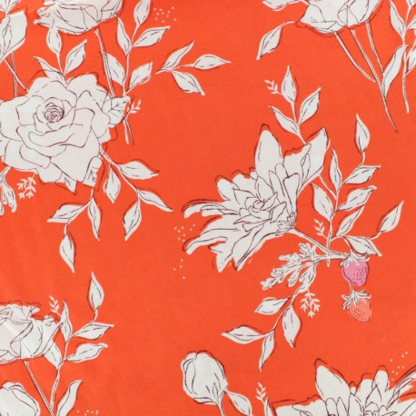 AGF fabric Sonata - red Pastoral Crescendo x 10 cm