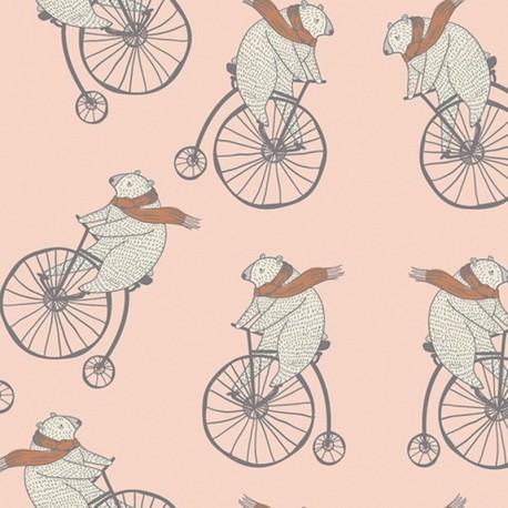 Cotton fabric - Nude AGF Mr Penny Bubblegum