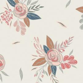 Cotton fabric - AGF Montrose Blossom Cream x 10cm
