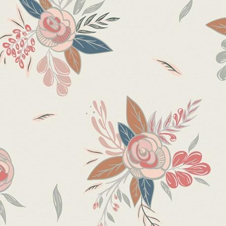 Tissu coton AGF Montrose Blossom - Crème x 10cm