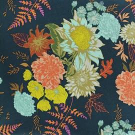 Tissu coton AGF Floral Glow Twilit - vert x 10cm
